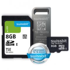Swissbit TSE, microSD-Karte, 8 GB